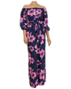 Blossoming Pink and Navy Jumpsuit
