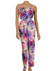 Ribbed Floral Jumpsuit