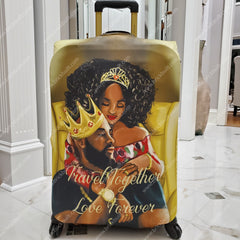 black love luggage cover