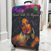 black girl luggage cover