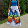 Rainbow Butterfly Full Skirt
