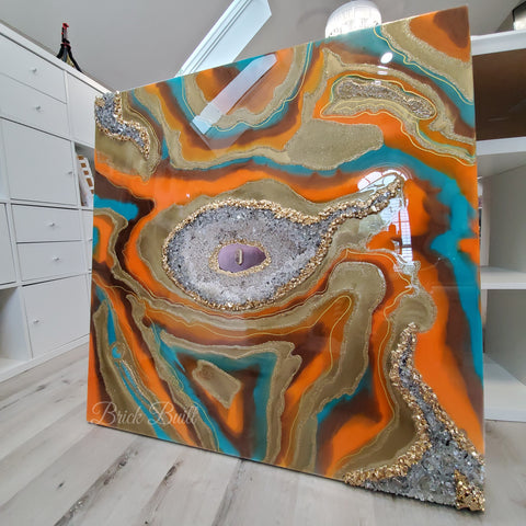 Glass Stone Wall Art