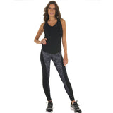 Women's Long Leggings Two-Sided Fitness High Waist Elastic