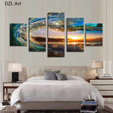 Waves Picture Wall Decor Print on Canvas Oil Painting Canvas Painting