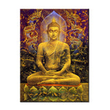 Buddha  in the true Wall painting print on canvas for home decor ideas