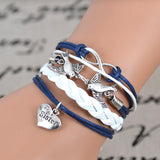 2017 Fashion Infinity love Birds sister Charm Bracelet