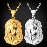 Jesus Piece Necklaces Pendant 50CM+5CM Chain Trendy
