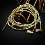 Luxury Diamond earphone Crystal Pearl In-Ear Earphone