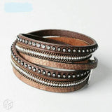 Artilady wrap leather bangle charm  leather bracelet women jewelry