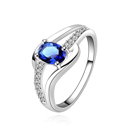Silver plated 925 Fashion Jewelry blue stone still here silver  FREE+SHIPPING