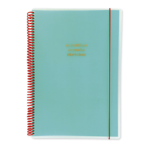 A4 polyprop notebook - Aqua