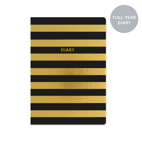 A5 week-to-view 2018 diary - Stripe