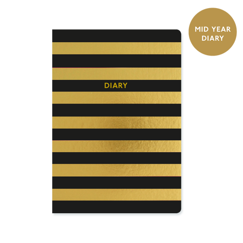 A5 week-to-view mid year 2017/18 diary - Stripe