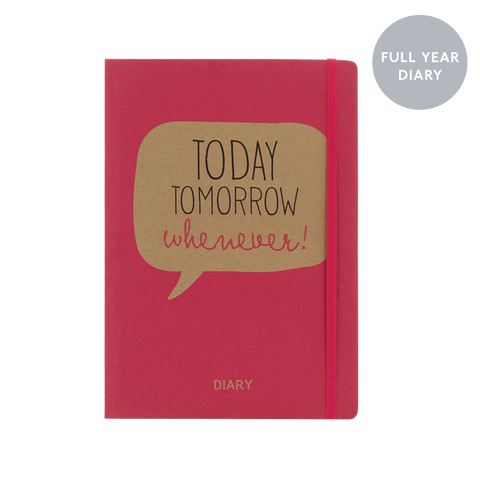 A5 week-to-view 2018 diary - Today Tomorrow Whenever