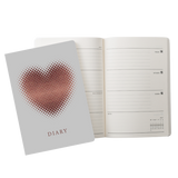 A5 week-to-view 2018 diary - Heart