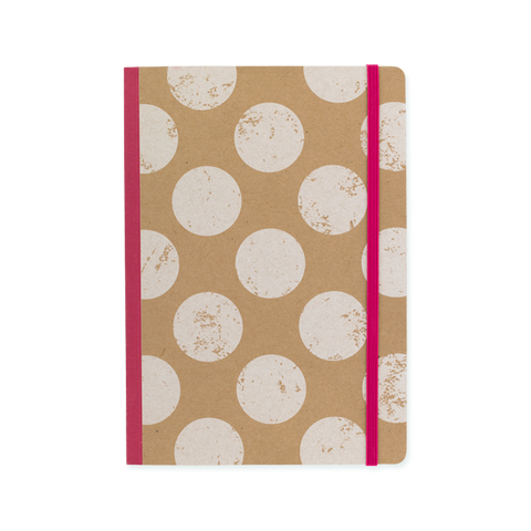 A5 notebook - White Polka