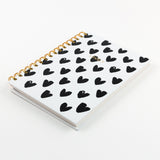A5 notebook -  Hearts