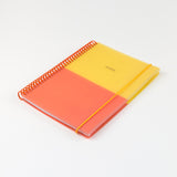 A5 polyprop notebook - Yellow/Orange