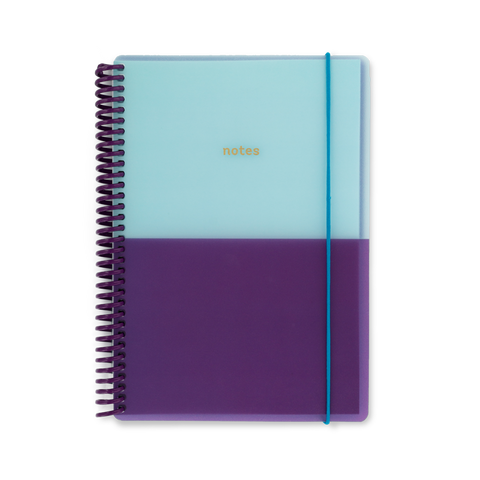 A5 polyprop notebook - Plum/Aqua