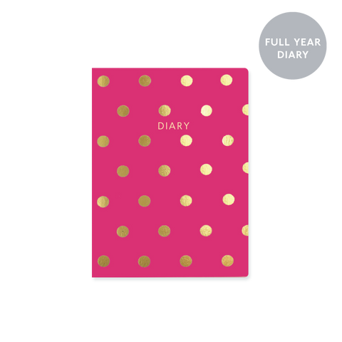A6 day-to-view 2018 diary - Magenta