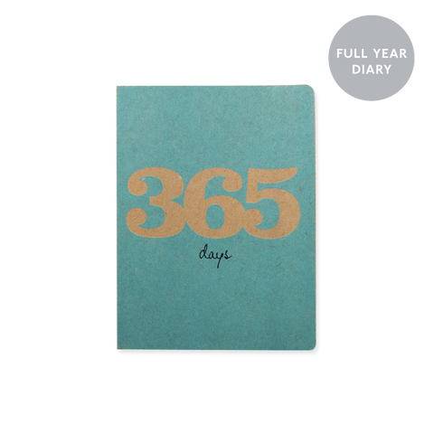 A6 day-to-view 2018 diary - 365 Teal