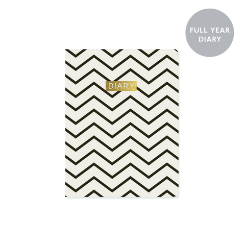 A6 day-to-view 2018 diary - Chevron