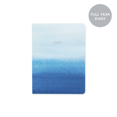 A6 day-to-view 2018 diary - Indigo