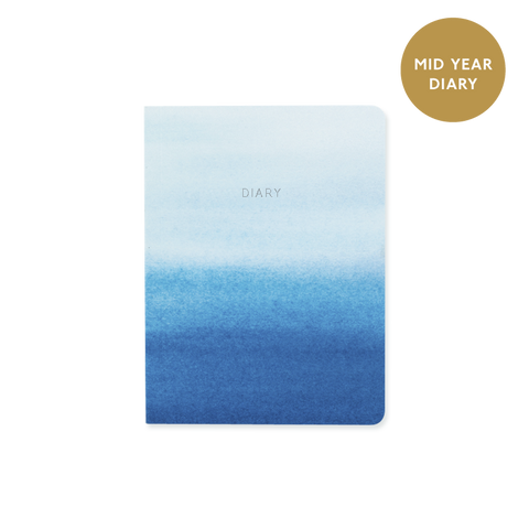A6 day-to-view mid year 2017/18 diary - Indigo