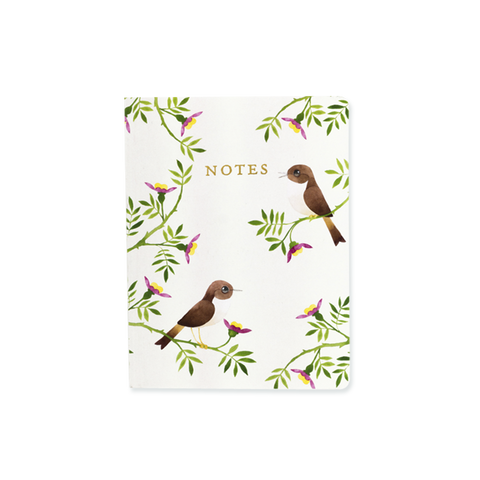 A6 notebook - Nightingales