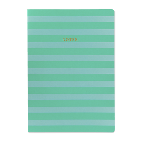 A4 notebook - Aqua/Teal Stripe