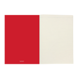 A4 notebook - Red/White Stripe