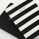 A6 set of 2 notebooks - Mono Stripe