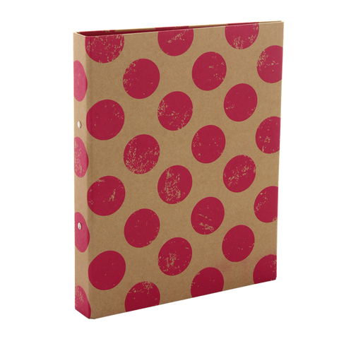 Ring binder - Pink Polka
