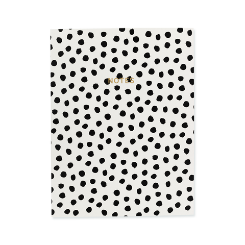 Wire-O notebook - Painterly Dots