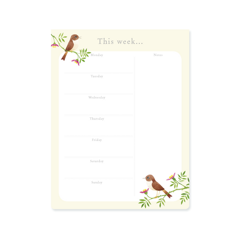 Weekly Planner Pad - Nightingale
