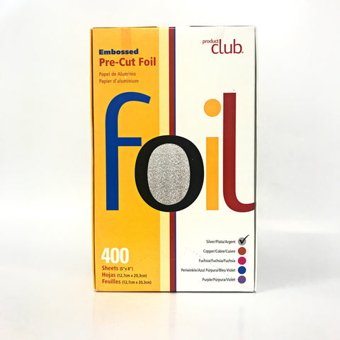 "Product Club- Embossed Pre-Cut Foil: 400 count, 5""x8"" Silver"