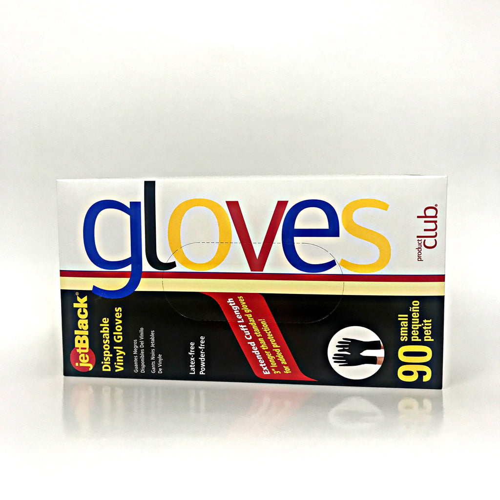 Product Club- JetBlack Disposable Vinyl Gloves