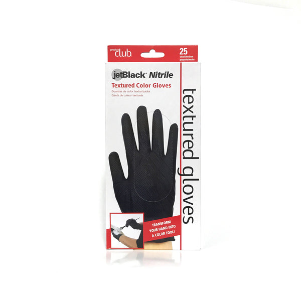 Product Club- JetBlack Nitrile Textured Color Gloves