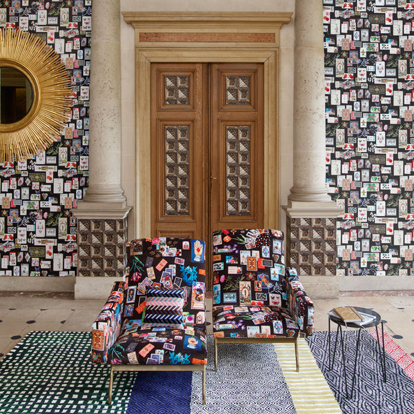 "Christian Lacroix Present ""Incroyables et Merveilleuses"" Fabric & Wallpaper Collection"