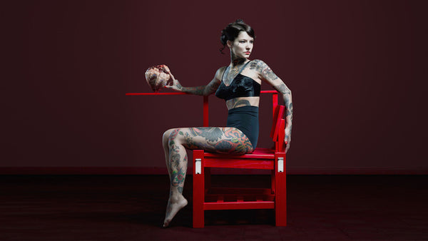 Tattoo Chair by Cookie Bros available exclusively at Jane Richards Interiors