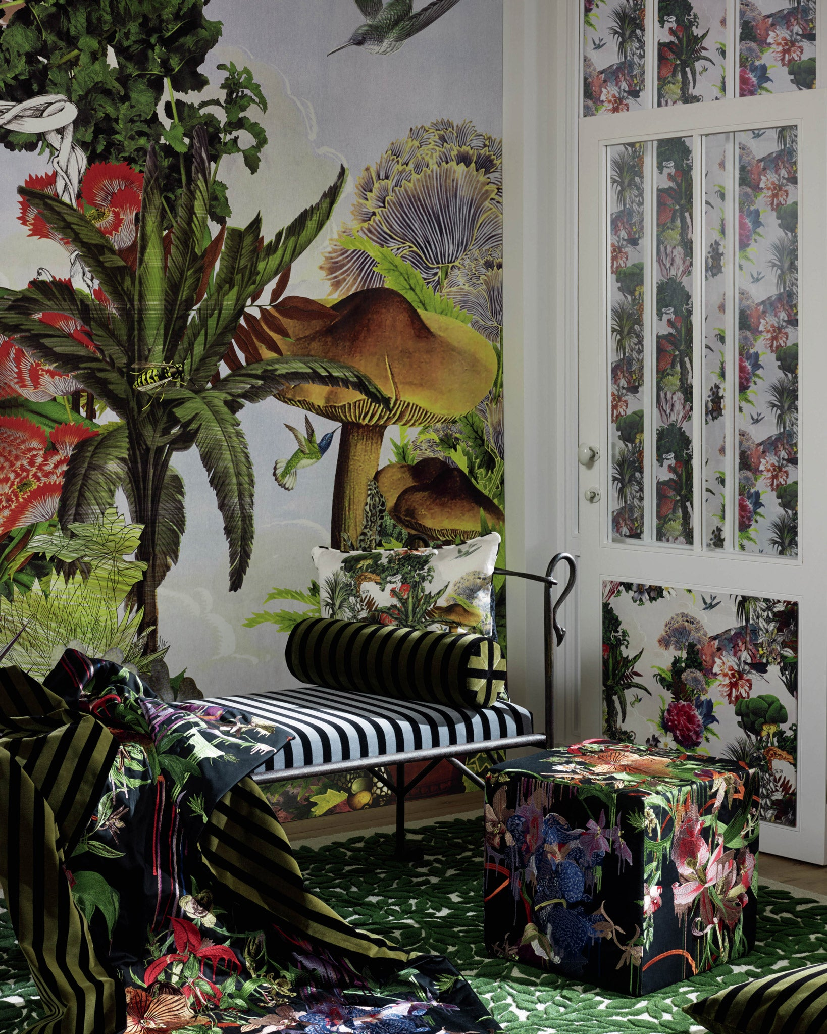 christian lacroix 39 histoires naturelles 39 fabric wallpaper collection jane richards interiors. Black Bedroom Furniture Sets. Home Design Ideas