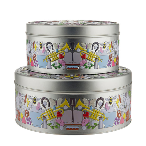 Alessi Garybaldi Round Tin Boxes by Studio Job Front