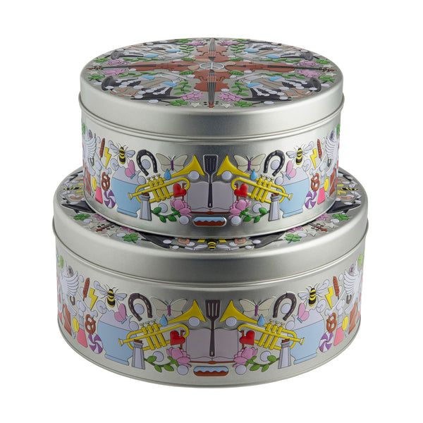 Alessi Garybaldi Round Tin Boxes by Studio Job