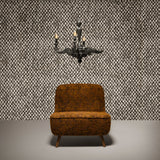 Arte x Moooi Wallcovering 'Aristo Quagga' Wallpaper Roomset Light