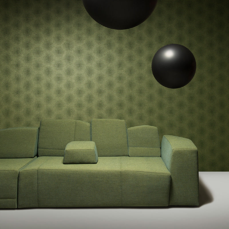 Arte x Moooi Wallcovering 'Blooming Seadragon' Wallpaper Roomset Sofa