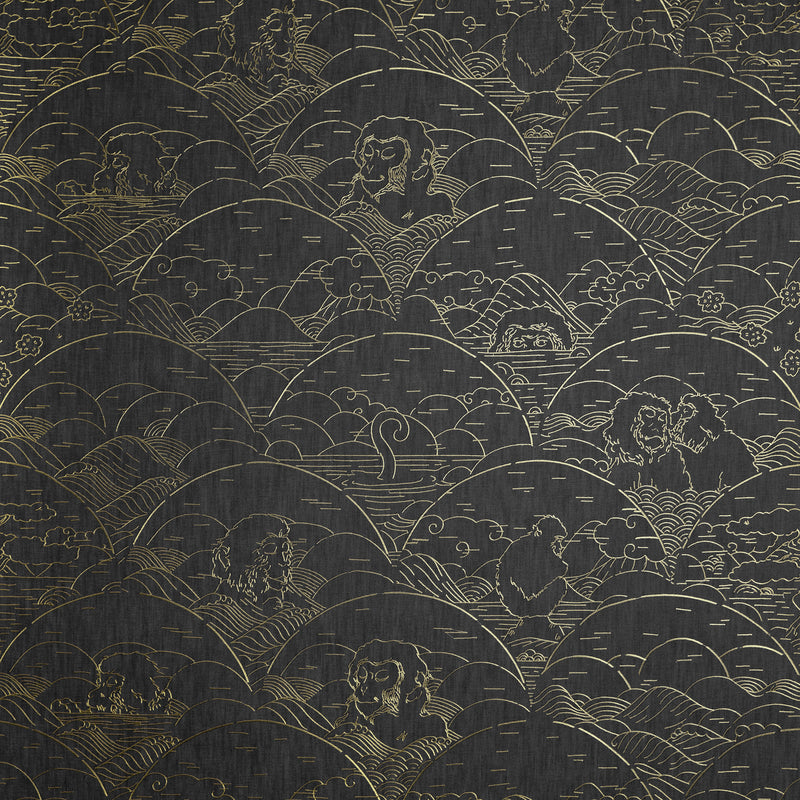 Arte x Moooi Wallcovering 'Indigo Macaque' Wallpaper MO3001