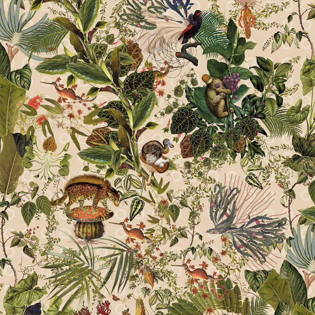 Arte X Moooi Wallcovering Menagerie Of Extinct Animals
