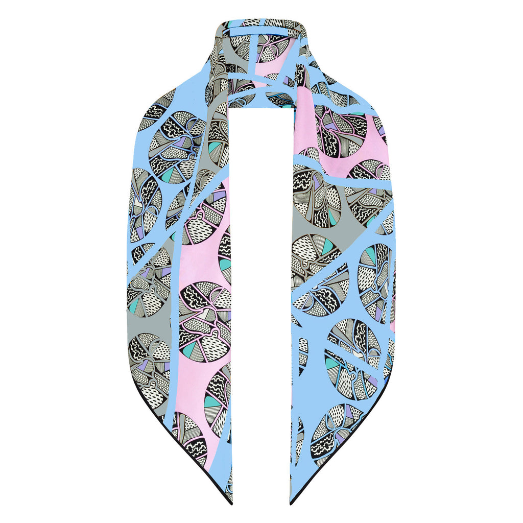 Bella Singleton 'Luna' Silk Scarf Grey - Small