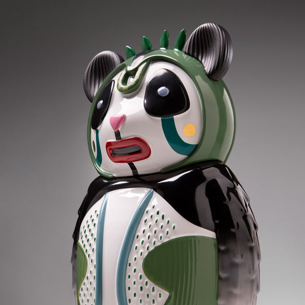 Bosa 'Bernardo' Panda Sculpture by Elena Salmistraro Side Detail