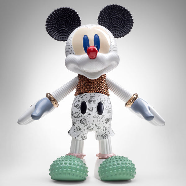 Bosa Mickey Mouse Forever Young Sculpture by Elena Salmistraro Front